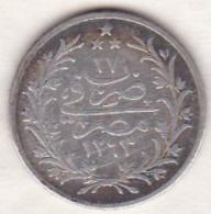 Empire Ottoman. 2 Qirsh AH 1293 Year 17. Abdul Hamid, En Argent. KM# 293 - Egypte