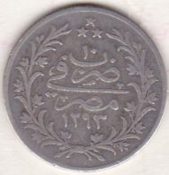 Empire Ottoman. 5 Qirsh AH 1293 Year 10. Abdul Hamid, En Argent. KM# 294 - Egypte