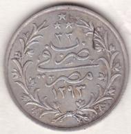 Empire Ottoman. 5 Qirsh AH 1293 Year 33. Abdul Hamid, En Argent. KM# 298 - Egypte