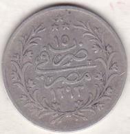 Empire Ottoman. 10 Qirsh AH 1293 Year 15. Abdul Hamid, En Argent. KM# 295 . - Egypte