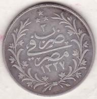 Empire Ottoman. 10 Qirsh AH 1327 Year 2. Muhammad V, En Argent. KM# 309 - Egypte