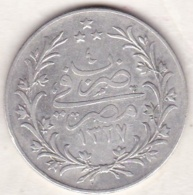 Empire Ottoman. 10 Qirsh AH 1327 Year 4. Muhammad V, En Argent. KM# 309 - Egypte