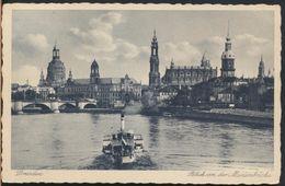 °°° 5051 - GERMANY - DRESDEN - BLICK VON DER MARIENBRUCKE - 1936 With Stamps °°° - Dresden