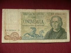 RARE Billet De 5000 Lire De 1971 - [ 2] 1946-… : Républic