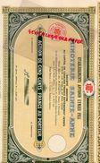 07- LA GARDE ADHEMAR- ACTION 500 FRANCS- MINOTERIE SAINTE ANNE- ETS. ANTONIN EYMIEU FILS- 1931 - Agriculture