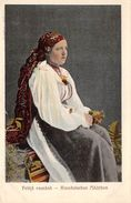 ROMANIA ROMANIAN WOMAN NATIONAL COSTUME OLD POSTCARD - Romania
