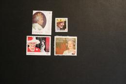 Canada Royals Queen Elizabeth II 4 Values Used  WYSIWYG 201? A04s - Gebruikt