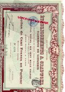 75- PARIS- ACTION CENT FRANCS ETABLISSEMENTS A. GRADWOHL FABRIQUE LINGERIE-1911- IMPRIMERIE RICHARD - Textile
