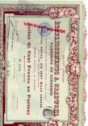 75- PARIS- ACTION CENT FRANCS ETABLISSEMENTS A. GRADWOHL FABRIQUE LINGERIE-1911- IMPRIMERIE RICHARD - Textil