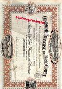 78 - BONNIERES SUR SEINE - COMPAGNIE FRANCAISE DU FERRO CIMENT- ACTION 100 FRANCS-1919- ME RECULLET NOTAIRE BEAUVAIS - Autres