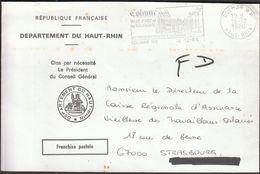 France Colmar 1986 / Departement Du Haut-Rhin / Art / Tourism / Machine Stamp - Poststempel (Briefe)