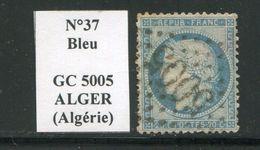 FRANCE- Y&T N°37- GC 5005 (ALGER Algérie) - Marcophilie (Timbres Détachés)