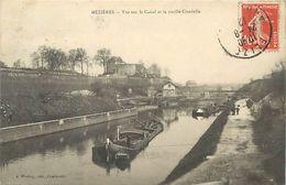 PIE 17-VIN-6314  : MEZIERES. LE CANAL AVEC PENICHES - Otros Municipios