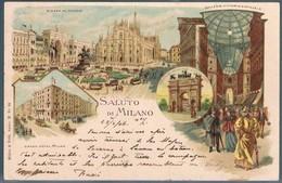 Italia, Bilhete Postal Saluto Di Milano - Milano (Mailand)