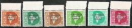 India,  Scott 2017 # M56-M61,  Issued 1962,  Set Of 6,  MNH,  Cat $ 7.85,  UN In Congo - India