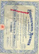 75- PARIS-  ETABLISSEMENTS MOURIER -L. BARRAYA - ACTION 500 FRANCS - 41 AVENUE OPERA- MAITRE MOYNE NOTAIRE-1936 - Pétrole