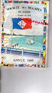 76 - LE HAVRE - CATALOGUE SOCIETE DES REGATES 1989- PORT DES YACHTS BD CLEMENCEAU-PDT CHRISTIAN VOISIN - Boats