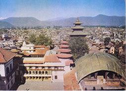 NEPAL - COLOUR PICTURE POST CARD - COTTAGE INDUSTRIES & HANDICRAFTS EMPORIUM - TOURISM - KATHMANDU VALLEY, ARIAL VIEW - Nepal