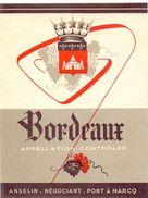 Etiket Etiquette - Wijn - Vin - Bordeaux - Anselin Négociant à Pont à Marcq - Non Classés