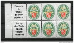 Germany 1929 Pane/Blat 66 MNH - Unused Stamps