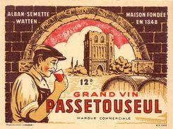 Etiket Etiquette - Wijn - Vin - Passetouseul - Alban Semette - Watten - Ohne Zuordnung
