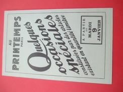 """Grand Dépliant à 8 Volets / Mode/ """" Quelques Occasions Spéciales""""/ Au Printemps/PARIS/ Pigelet/ Vers 1930-35    CAT210 - Fatture & Documenti Commerciali"""