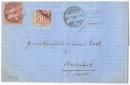Faltbrief  Luzern - Kaltbach B.Sursee             1868 - 1862-1881 Helvetia Seduta (dentellati)