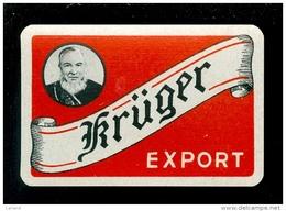 Speelkaart ( 993 ) Dos D´ Une Carte à Jouer - Bier Bière Bieren Bières Brasserie Brouwerij -  Krüger  Eecloo  Eeklo - Barajas De Naipe
