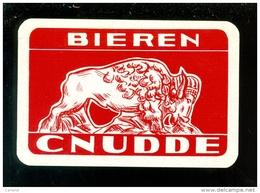 Speelkaart ( 974 ) Dos D´ Une Carte à Jouer - Bier Bière Bieren Bières Brasserie Brouwerij - CNUDDE - Barajas De Naipe
