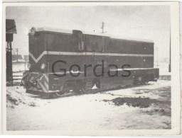 Romania - Electric Locomotive Engine - Train - Photo 120x95mm - Trains