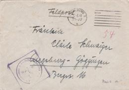 Feldpost WW2: 2./7. Schiffstammabteilung In Stralsund P/m Stralsund 10.6.1941 - Cover Only  (T14-40) - Militaria