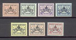 1939 - VATICAN - PIO XI - Scott #61-67 - MH VF * - Unused Stamps