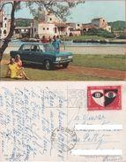 Cartolina - FIAT 125 Berlina. Viaggiata - Advertising