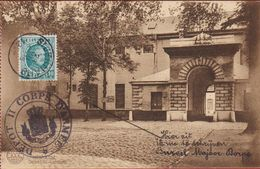 Hemixem Hemiksem Depot 'ST-BERNARD' Afgestempeld Ex Bureel Majoor Dorpe ZELDZAAM 1924 Belgian Army - Hemiksem