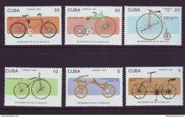1993.4 CUBA 1993. MNH. HISTORIA DE LA BICICLETA. BYCICLE HISTORY. LEONADO DA VINCI. LAWSON. STARLEY. MICHAUX. DRAISIMA. - Cuba
