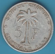 BELGISCH CONGO BELGE RUANDA-URUNDI 5 FRANCS 1958 KM# 3 - 1951-1960: Baudouin I