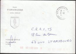 France Aspach / Mairie De Aspach Le Bas / Coat Of Arms - Poststempel (Briefe)