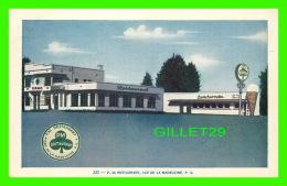 CAP DE LA MADELEINE, QUÉBEC - P. M. RESTAURANT - STATION SERVICE TEXACO - LORENZO AUDET ENR. ÉDITEUR - - Trois-Rivières