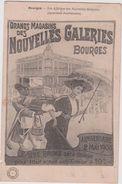 Cher : BOURGES : Affiche Nouvelles Galeries , Anniversaire 2  Mai 1908 - Bourges