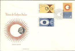 1965 FDC (3) Mi# 1020-1025, Block 26 - Intl. Quiet Sun Year / Space - FDC & Commemoratives