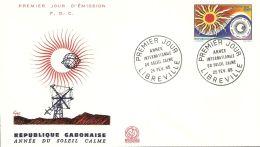 Gabon 1965 FDC Mi# 215 - International Quiet Sun Year / Space - FDC & Commemoratives