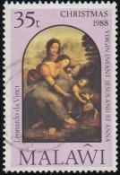 MALAWI - Scott #539 Virgin, Infant Jesus And St. Anna By Da Vinci / Used Stamp - Malawi (1964-...)