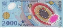RUMÄNIEN 2000 LEI 1999 P-111b I (BFR) S/N PRÄFIX 001A (OHNE FOLDER) [RO111b] - Romania
