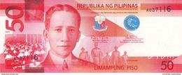 PHILIPPINES 50 PISO (PESOS) 2010 P-207a UNC  [PH1078a] - Philippines