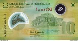 "NICARAGUA 10 CORDOBAS 2007 (2012) P-201 NEUF BLANC ""20"" EN FENETRE [NI497b] - Nicaragua"