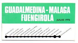 Dienstregeling Metro Madrid - Guadalmedina Malaga Fuengirola Julio 1976 - Europe