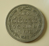 Ceylon 1 Rupee 1963 - Sri Lanka