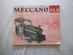 MECCANO MANUEL D'INSTRUCTIONS POUR BOITES 4,5 ET 6 IMPRIME EN ANGLETERRE 82 PAGES - Meccano