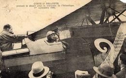 Les Aviateurs  Coste Et Bellonte  -  1er Traversée Paris-New York 1930 -  CPA - Aviadores