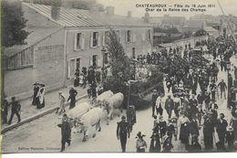 CHATEAUROUX  Fête Du 18 Juin 1911 Char De La Reine Des Champs - Chateauroux